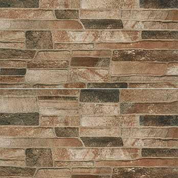 Ceramic Wholesaler Canyon Mix Brown Glazed Porcelain Stone Cladding - Floor Tile