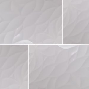 Shiney White Wave Decor