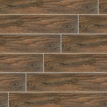 Ceramic Wholesaler Sherwood Brown Glazed Ceramic Wood Grain - Floor Tile
